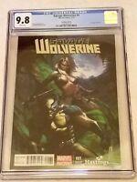 Savage Wolverine #1 Dell'Otto Hastings Variant CGC 9.8 NM/MT Marvel 2013
