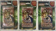 Yugioh!  3x  Sealed Pharaoh's Servant Blister Booster Packs BONUS Cards 100% NEW