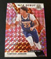 E59 2019-20 Panini Mosaic Cameron Johnson Rookie RC NBA Debut Pink Camo Prizm