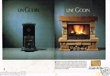 Publicité advertising 1988 (2 pages) Les Cheminées Godin