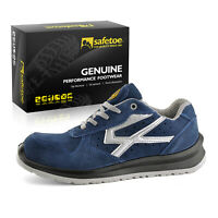 Safetoe Blue Safety Mens Work Shoes Boots Composite Toe Light Weight Breathable