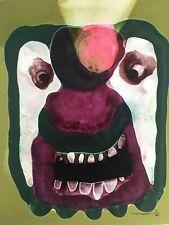 Jose Tonito Original Fine art painting.Organic Realism.MASK.Fantastic artwork