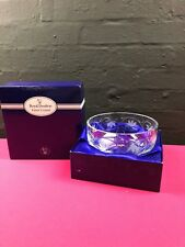 "Royal Doulton Crystal Cut Glass Salad / Dessert Bowl 8"" Wide 4"" High Boxed"