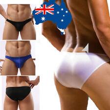 AU Stock Men's Comft Soft Boxer Briefs Bulge Pouch Low-rise Underwear Shorts