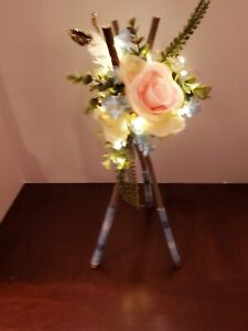 Wedding/Party Centerpieces and Lighted, Floral, Teepee Boho style. Lot of 12.