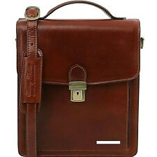 Tuscany Leather DAVID Leather Genuine Cross body Bag - large size luxury quality