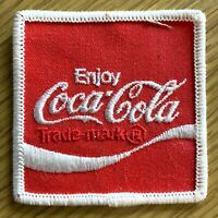 """ENJOY COCA-COLA vintage sew-on or iron-on 2.5"""" PATCH red embroidered COKE SODA"""