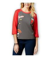Mighty Fine Womens Snoopy Baseball Graphic T-Shirt