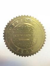 """80 x 50mm STAR ORO Excellence Award certificato SIGILLI ADESIVI ricompensa 2 """""""