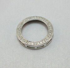 STERLING SILVER DIAMOND CIRCLE PENDANT THAILAND   ***