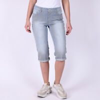 Levi's Striped Damen Blau Weiss Denim Capri 28