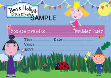 Ben and Holly's Little Kingdom A5 Size Glossy Party Invitations - 20/Pack