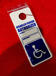 Handicap Disabled  Placard Sign Heavy Duty Removable Sign Impedido Card