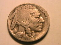 1924-D Buffalo Nickel Nice Fine Grey Toned F Original Indian Head 5 Cents Coin