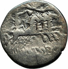 Roman Republic M.Porcius Laeca 125BC Silver Ancient Coin Liberty  Horse i77063