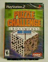 Puzzle Challenge: Crosswords and More (Sony PlayStation 2, 2006) New Sealed !