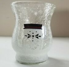 Yankee Candle - JACKSON FROST CRACKLE GLASS HURRICANE Votive Candle Holder NEW
