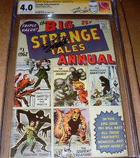 Strange Tales Annual #1 CGC SS SIGNED Stan Lee Marvel 1962 Early Monsters Sci-Fi