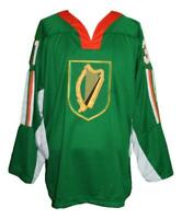 Any Name Number Size Team Ireland Retro Custom Hockey Jersey Green Bailey
