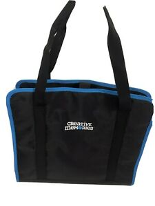 Creative Memories Project Tote - Black with Turquoise Trim, NEW