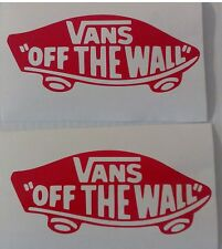 2 X Vans Off the Wall Decal Pegatinas Patineta coche JDM, Euro, VW, Dub, Vans