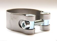LeoVince Universal Motorcycle 43mm Exhaust Clamp Stainless Steel Range 40 - 43mm