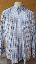 PETER MILLAR Men's Multi-Color Plaids Cotton Button Front Long Sleeve Shirt XL