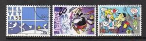 SWITZERLAND USED 1992 SG1243-1245 SIERRE INT COMICS FESTIVAL