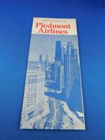 PIEDMONT AIRLINES TIMETABLE SCHEDULE MAY 1974 ADVERTISING TRAVEL FLYING PLANE