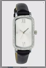 LADIES WATCH BNIB NEXT Black Embellished Rectangle Shaped Case Watch *