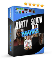 3960 DIRTY SOUTH Drum Samples Crunk 808 MPC Reason FL Studio + GUN SHOT LIBRARY