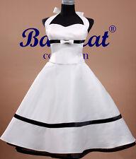 50er Jahre Tanzkleid Vintage Mode Petticoat Kleid Brautkleid C710 34-46 nach Maß