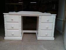PINE FURNITURE ASHBOURNE DOUBLE PEDISTAL DRESSING TABLE NO FLAT PACKS