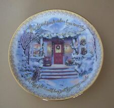 Warm Winter Welcomes FAMILY AND FRIENDS MAKE A HOUSE COME ALIVE Plate +COA