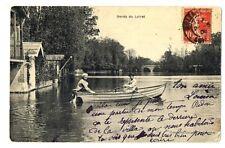 CPA 45 Loiret Les Bords du Loing animé barque