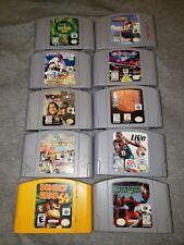 Lot Of 10 Nintendo N64 Games: Starfox Donkey Kong Wave Race NFL Blitz and more!