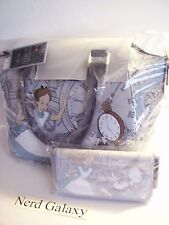 DISNEY Alice In Wonderland Satchel Purse & Wallet COMBO SET! NEW! FREE SHIPPING!