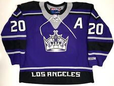 "LUC ROBITAILLE LOS ANGELES KINGS ORIGINAL 2000 CCM PURPLE ""CROWN"" JERSEY XXL"