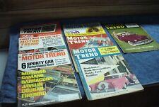 vintage magzine  motor trend magazines lot of 7   #7314