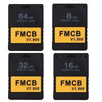 32 64 MB Memory Card Speicherkarte für PlayStation 2 PS2 FMCB Free MCboot V1.966