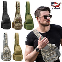 Men Outdoor Tactical Backpack Shoulder Sling Bag Chest Pack Sport Travel Hiking