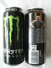 1 FULL Energy Drink Can, = Monster, Call of Duty Black Ops