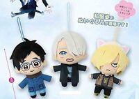 Yuri !! on ICE Plush 3 set Plisetsky Victor Nikiforov Katsuki doll Stuffed Japan