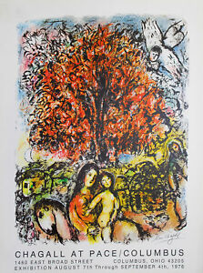 MARC CHAGALL - La sagrada familia .Cartel exposicion