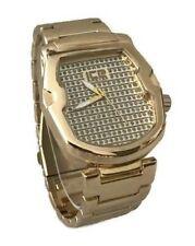 Ice Master Bm1307 Men's Dress Watch Gold Bracelet Band Water Resistant 1atm