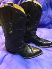 Women's Los Altos Boots Genuine Armadillo And Lizard Size 8M/25 Black EUC