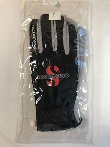 SCUBAPRO Dive Glove - Black and Gray NEW (Size L - See Description)