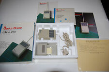 GENIUS 3 Button Serial Mouse GM-6 Plus In Box, including holder - Vintage (rare)