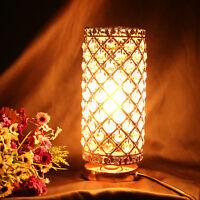 Modern Crystal Glass Table Lamp Bedside Desk Light Home Shade Lighting Bedroom