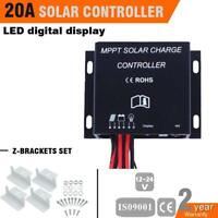 20A MPPT Solar Panel Battery Regulator Charge Controller 12V 24V Auto Switch PQ